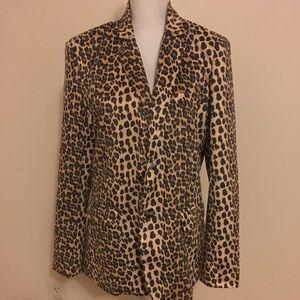 Boutique Soft Slouch Leopard Print Blazer Jacket S